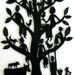 'Family Tree #1' Hand cut paper 107 x 71cm, framed, $995