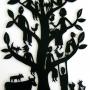 'Family Tree #1' Hand cut paper 107 x 71cm, framed, $995