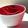 Red Incline Twistie Bowl 14cm height x 24cm diameter   $900