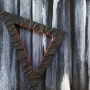 Monique Tippett – Burning Stump – jarrah, inks and acrylic, 20 x 20cm, $500