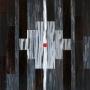 Monique Tippett – Cambium – jarrah veneer, ink, balga resin and lacquer on board, 40 x 40cm, $700