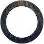 Monique Tippett – Habitat – blackbutt veneer, charcoal, silver leaf and lacquer on board, 160cm diameter
