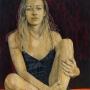 Judy Rogers – Seated Medusa – mixed media on board, 120cm x 60cm, $2500