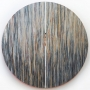 Monique Tippett – Nature of Being – blackbutt and karri veneers, ink, silver leaf, mirror and lacquers on board, 203cm diameter, $15000