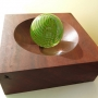 Tegan Empson – R and R Green Ball – glass and redgum