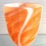 David Hay – Graal vase tangerine – glass, 29 x 22cm, $720