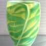 David Hay – Graal vase yellow and blue – glass, 30 x 17cm, $720