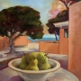 Jean Sher – Still Life with Pears, Rottnest – oil on canvas, 63 x 57cm framed, $1450