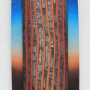 Peter Usher – Sunset Poem – acrylic, oil and charcoal on board, 200 x 60cm, $4800