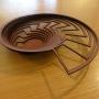 Sue Codee – Nautilus bowl – jarrah veneer, 40cm wide, $130